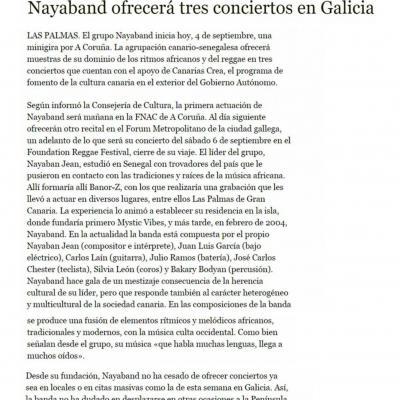 Nayaband offre trois concerts en Galice